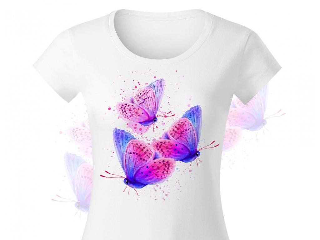 butterfly blue damske triko