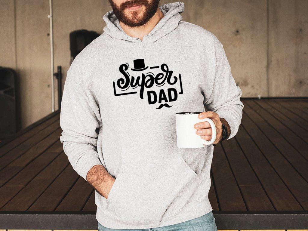 super dad colordot mikina