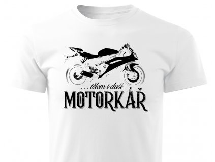 motorkar bile panske tricko