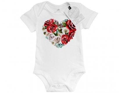 red roses srdicko detske bodyo
