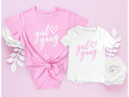 Girl gang - Dětské tričko BÍLÉ