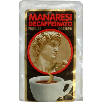 Manaresi Italian Espresso Decaffeinated 250g vacuum packed ground coffee