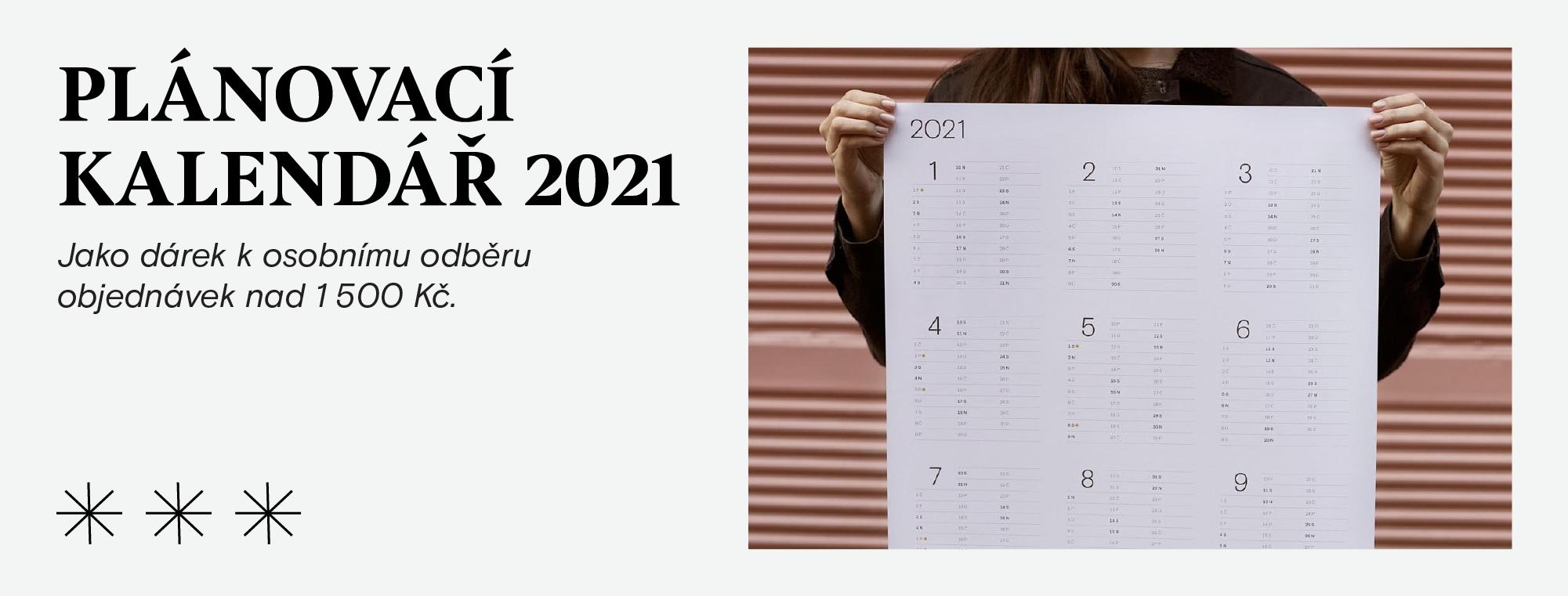 Plánovací kalendář - dárek k nákupu nad 1 500 Kč