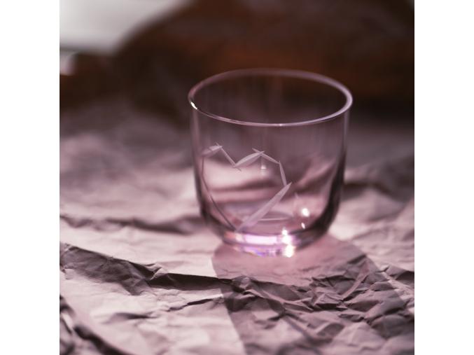 Sklenička LOVE Pink