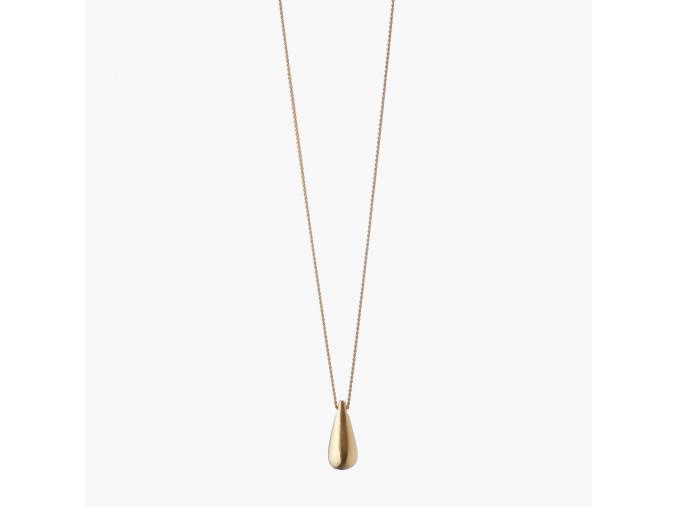Drop náhrdelník pozlacený dlouhý (Ag 925/1000)