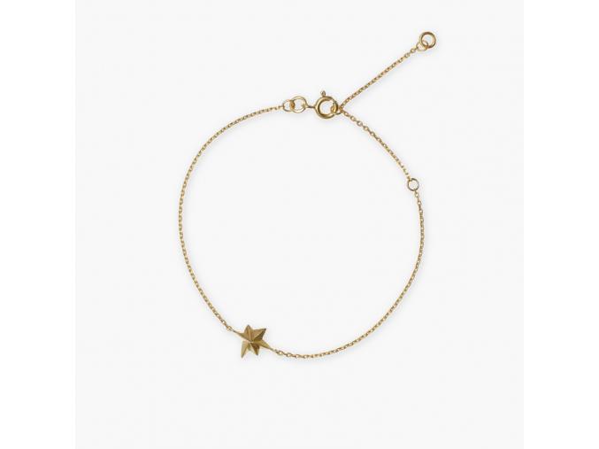 janja náhrdelník hvězda ag pozlacený
