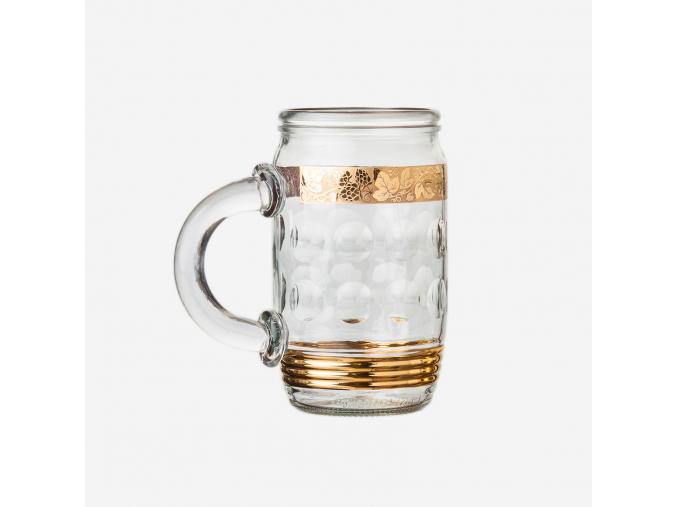 Sklenice JAR zlatá 0,7 l