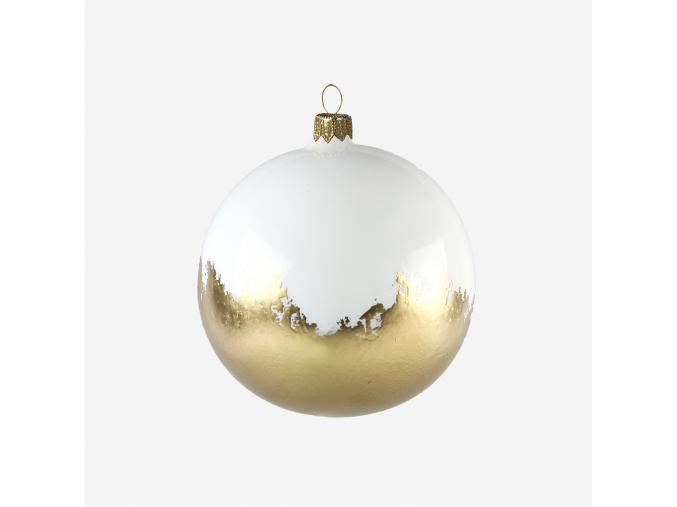 Vánoční baňka zlatobílá