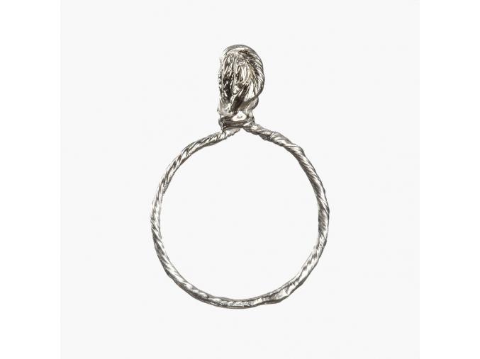 Tordovaný prsten s uzlem (Ag 925/1000)