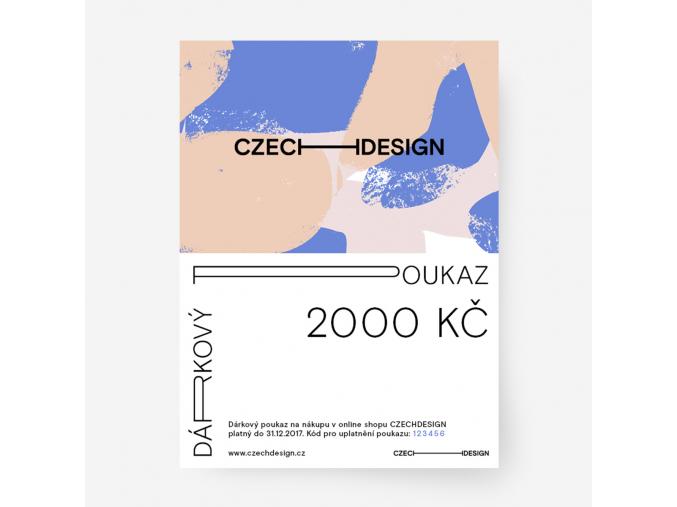 Dárkový voucher na nákup českého designu 2.000 Kč