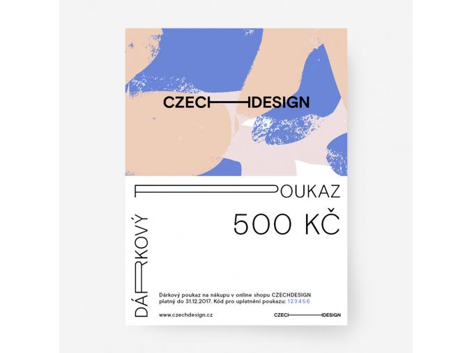 Dárkový voucher na nákup českého designu 500 Kč