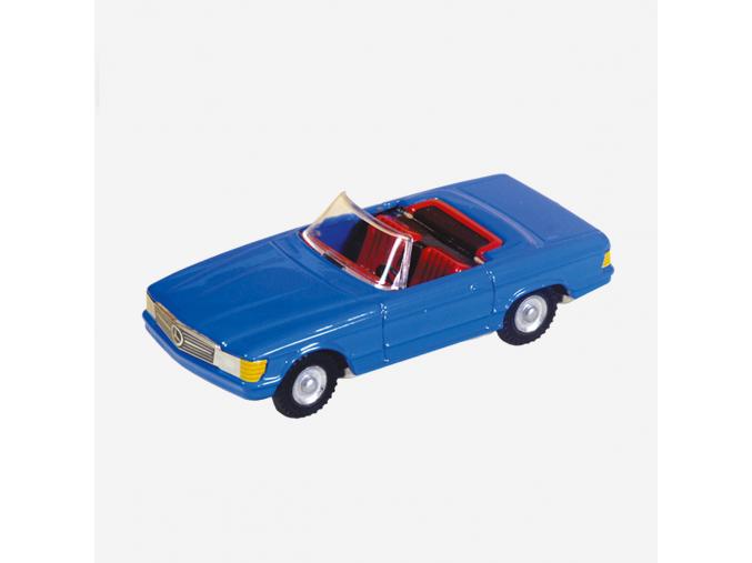 Mercedes cabrio modrý