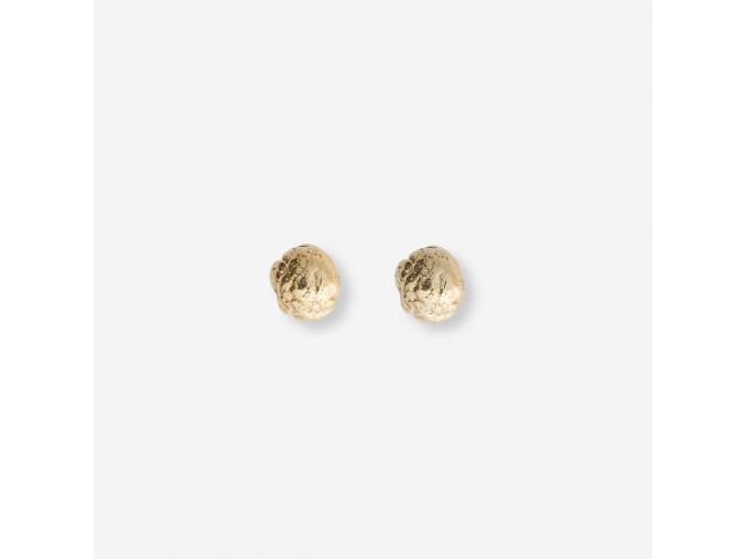 Chlebové náušnice - Pozlacené kuličky (Ag 925/1000)