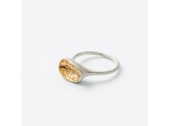Prsten s pozlacenou lodičkou *005 (Ag 925/1000)