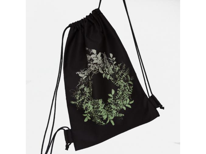 Plátěný batoh s květenou