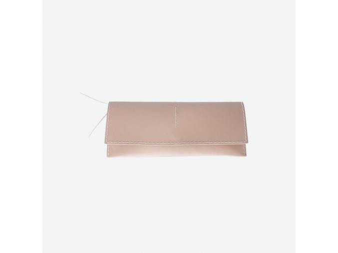 Minimalistická kožená peněženka Foglia - pudrová
