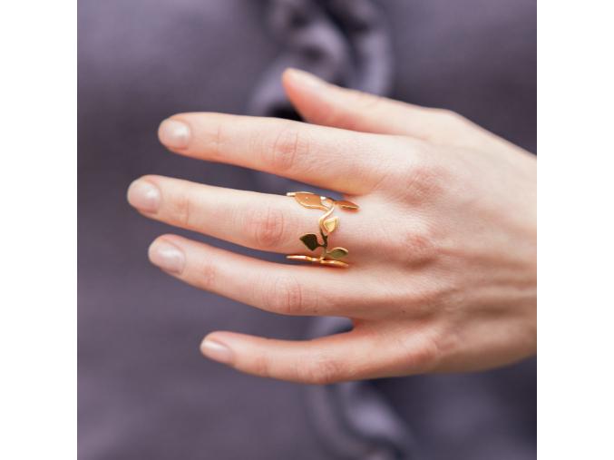 lucie zemanova prsten vavrin zlaceny
