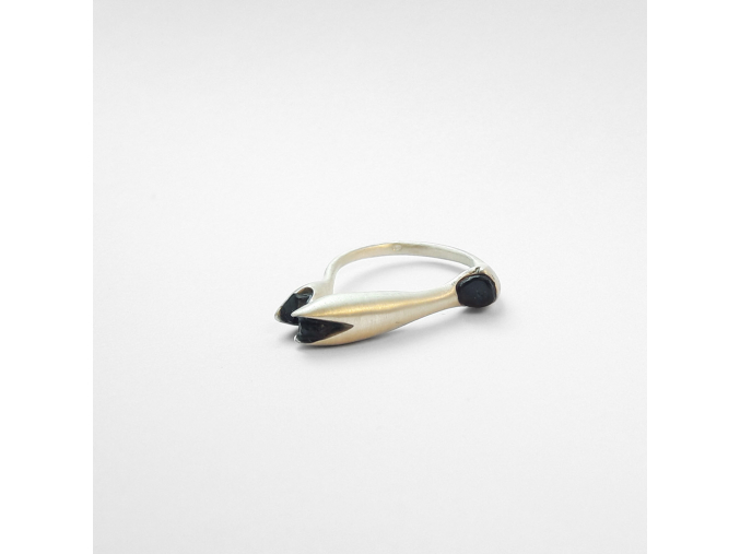 Prsten Poupě s kameny (Ag 925/1000)