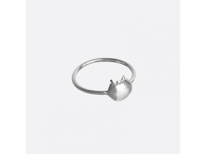 Prsten silver apple 1