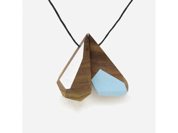 Bajkajlaj dřevěný šperk se 2 - polomáčený