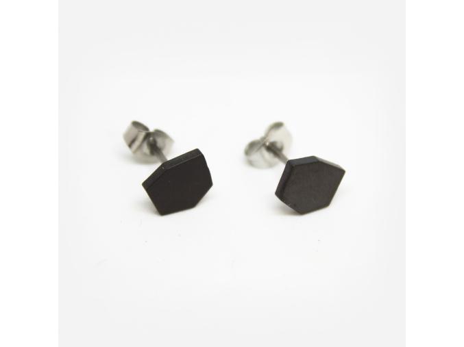 Naušnice M diamant černé