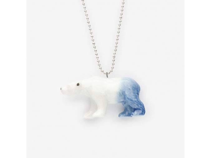 Zvíře na řetízku porcelán - medvěd
