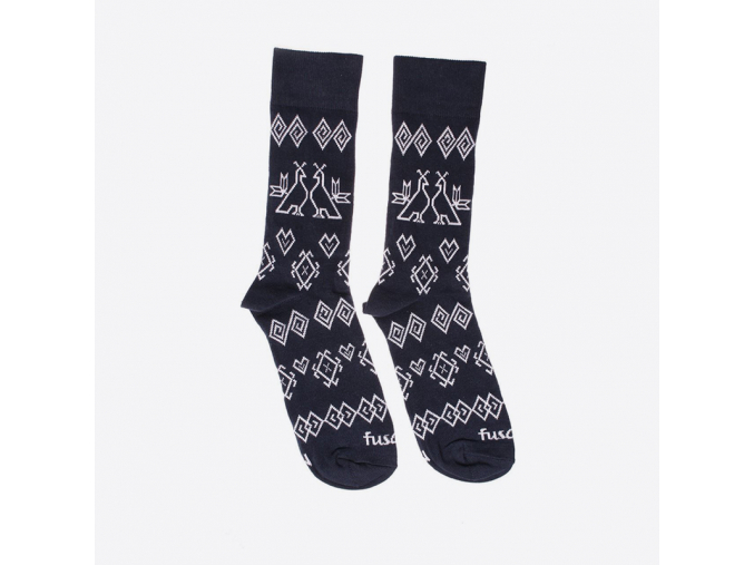 Ponožky Modrotisk