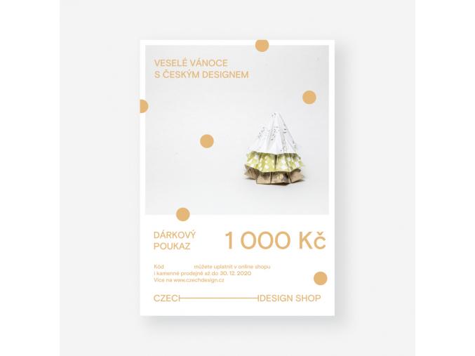 vanocni voucher 1000