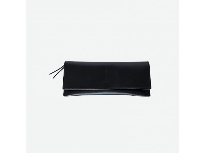 Minimalistická kožená peněženka Foglia - černá
