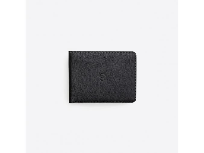 Kožená peněženka Slim na karty - černá