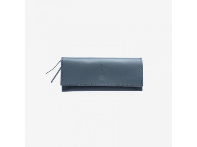 Minimalistická kožená peněženka Foglia - šedá