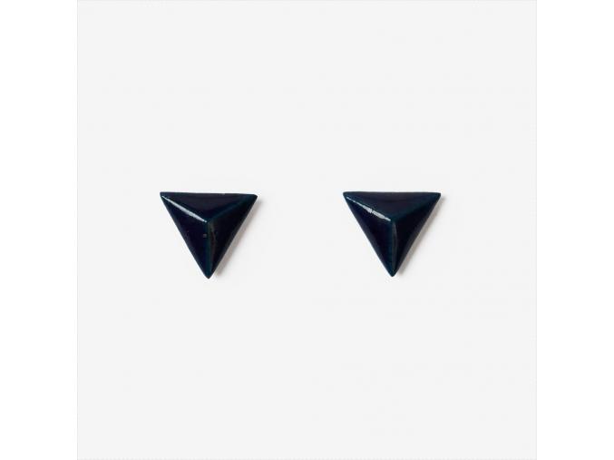 Porcelánové náušnice - trojúhelníky
