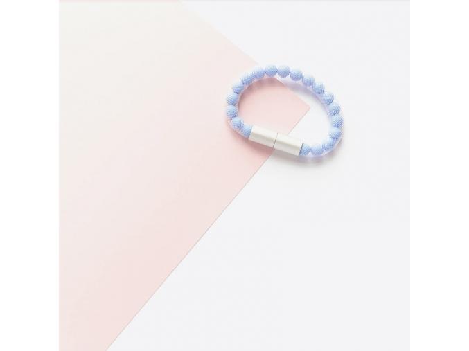 Skleněný náramek - modrý