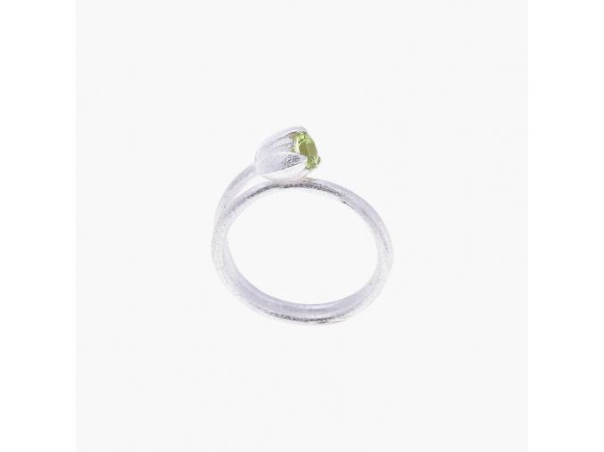 Zásnubní prsten Tulip s olivínem Hanuš Lamr