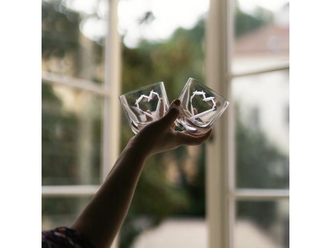 Skleničky LOVE Crystal - sada 2 ks