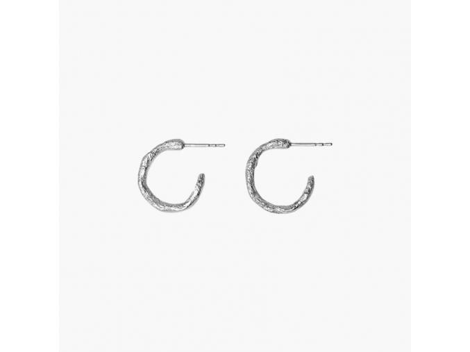 Náušnice stříbrné kroužky Eliška Lhotská