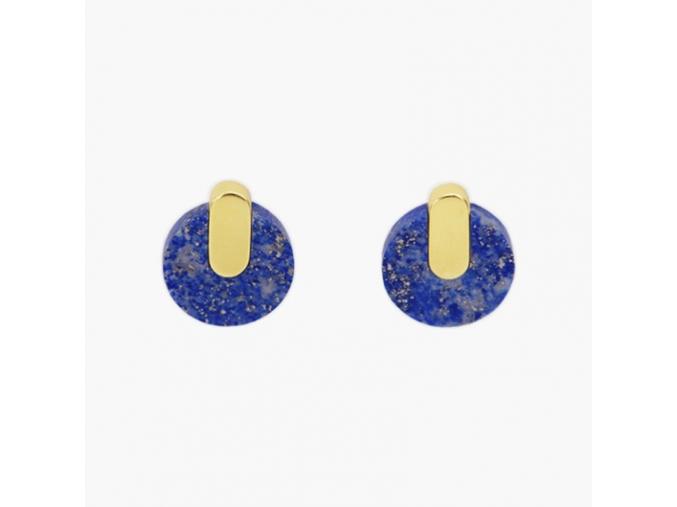 Adamantine earrings lapis METAFORMI