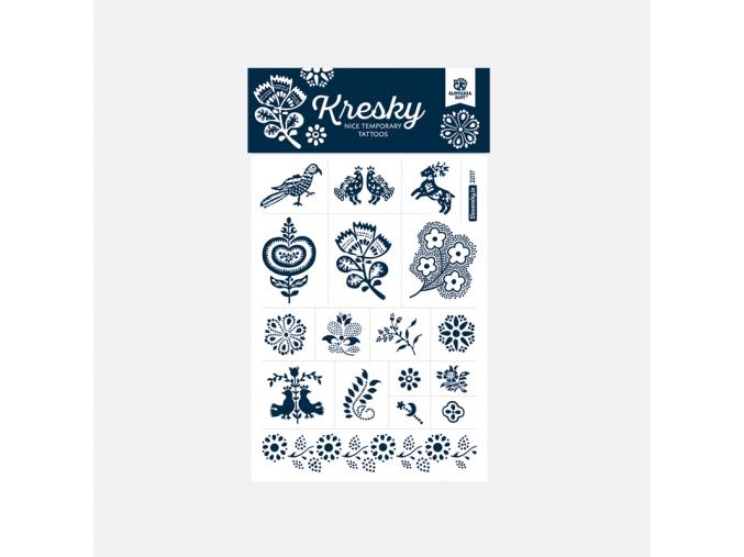 Tetovačky 16 Slovakiagift modrotisk