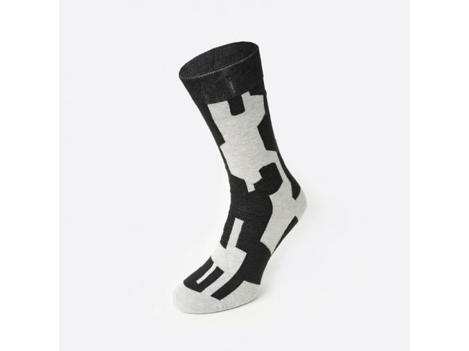 Nerozlučné ponožky šedočerné - PREFUSKY