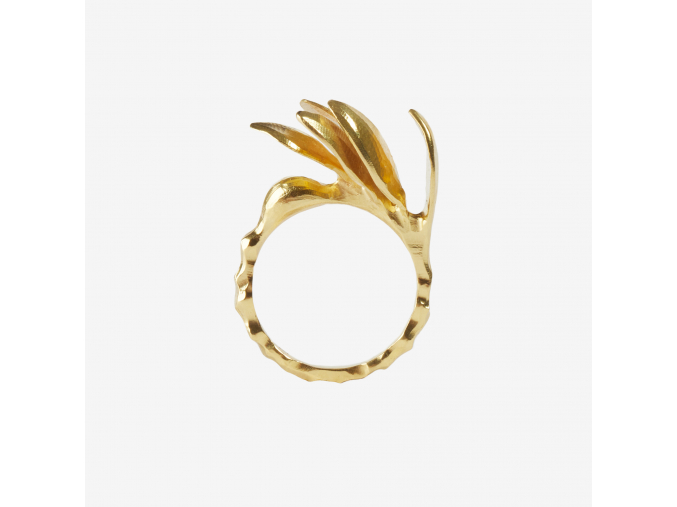 Prsten Myrta pozlacený