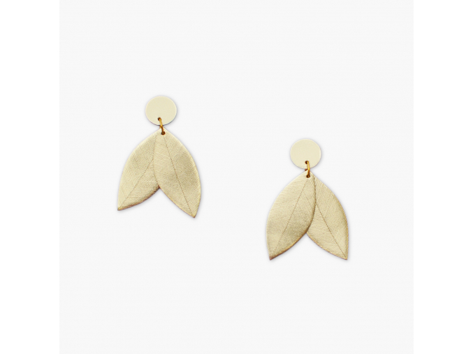 BENU MADE Maria leaf earrings 1
