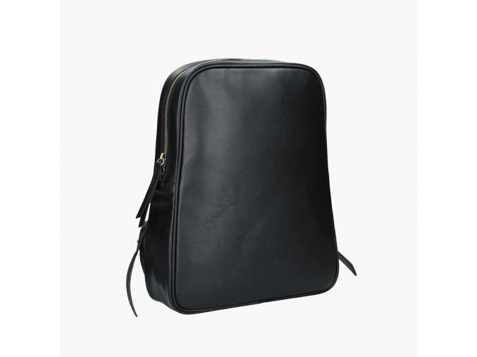 Kožený batoh EGG černý