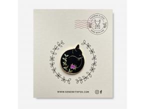 Odznáček: Spící kočka