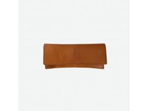 Minimalistická kožená peněženka Foglia - koňaková