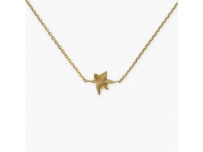 náhrdelník hvězda ag pozlacený