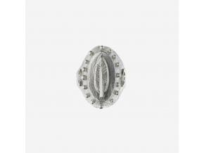 Prsten pečetní - pírko (Ag 925/1000)