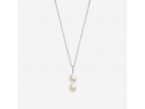Řetízek Double pearl B