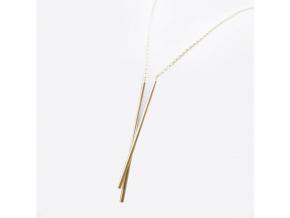 Stick Together náhrdelník L2 pozlacený