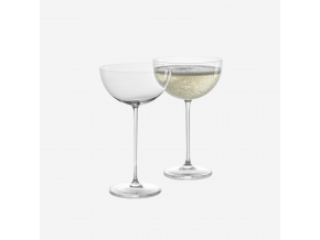 Sklenice Bubbles čiré na perlivé víno 2ks