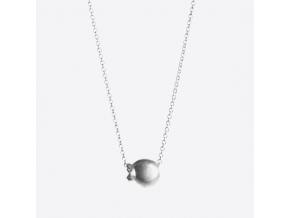 Stříbrný náhrdelník s borůvkou (Ag, 925/1000)